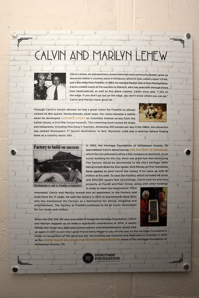 Calvin and Marilyn LeHew Interior Signage.JPG