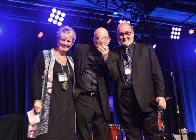 Jazz Heritage Award Ceremony-Lori Mechem, Jeff Coffin (award recipient), Roger Spencer.jpg