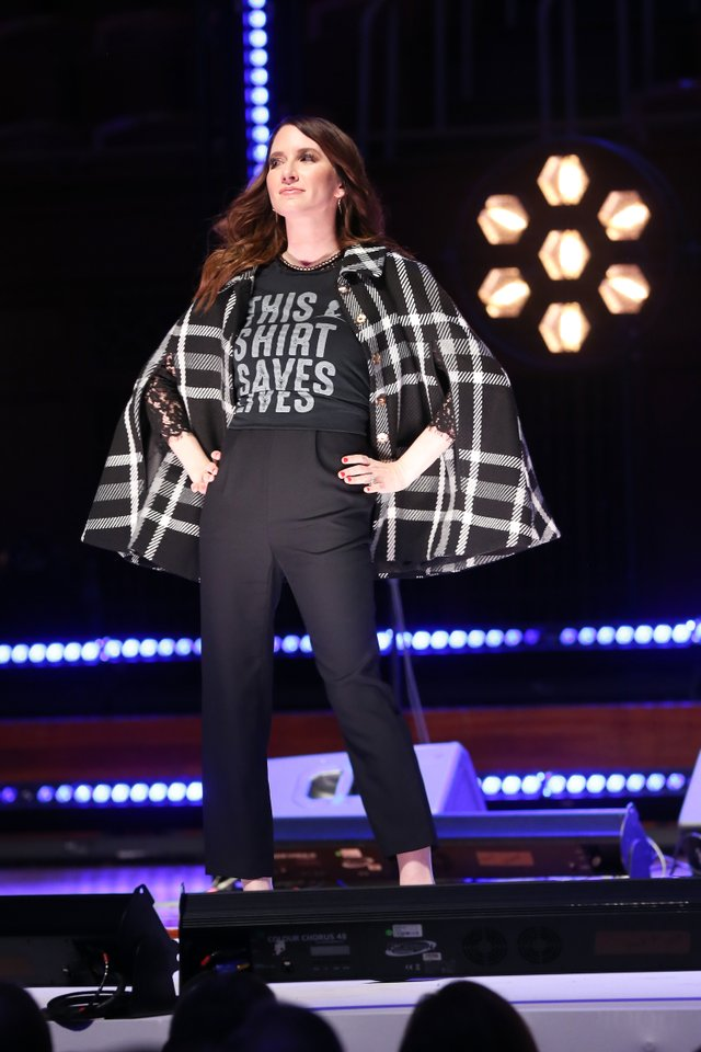 Clea Shearer of the The Home Edit walks the runway at the #ThisShirtSavesLives event.jpg