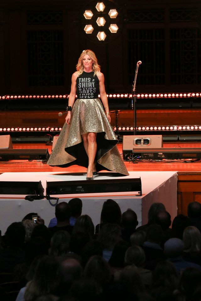 Landyn of Living with Landyn walks the runway at the #ThisShirtSavesLives launch.jpg