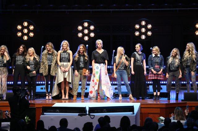 Models walk the runway at the #ThisShirtSavesLives launch.jpg