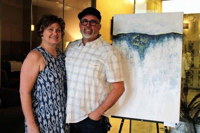 Agent Leisa Wilcox and artist K Randall Wilcox.JPG