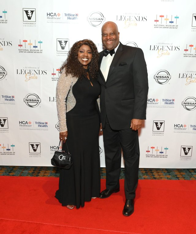 Gloria Gaynor and NMAAM CEO H. Beecher Hicks III attend the Celebration of Legends Gala 2019 on June 27, 2019 in Nashville, Tennessee. (Photo by Jason Kempin Getty Images).JPG