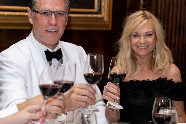 George and Jennifer Lasezkay at table.jpg