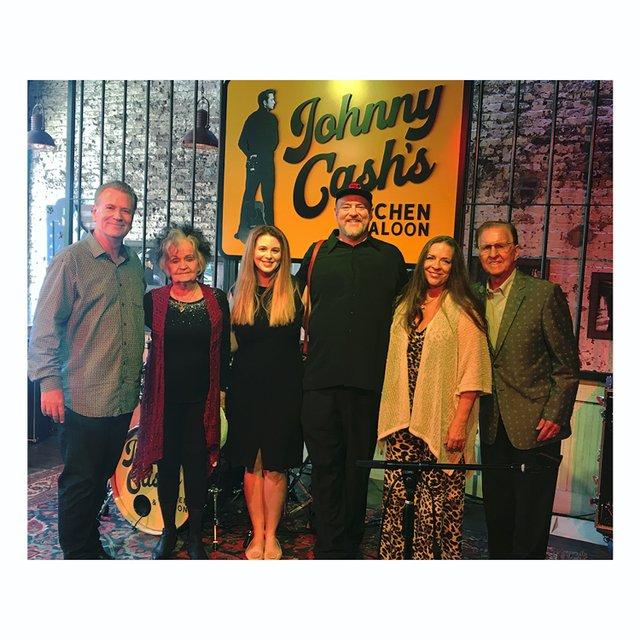 Founder Bill Miller, Joanne Cash, Ana Cristina Cash, John Carter Cash, Carlene Carter & Tommy Cash.jpg
