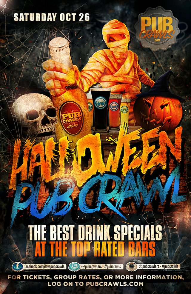 Nashville Halloween Weekend Pub Crawl (Music Row