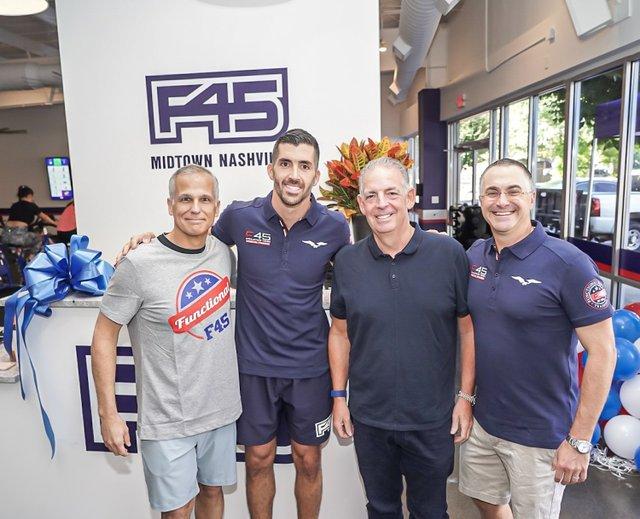 Tony Miranda, F45 Midtown Franchise Owner Nino Di Maggio, Alvaro De Molina, Jon Centurino.jpg