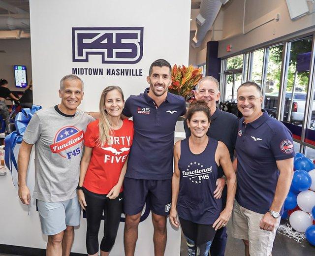 Tony Miranda, Luciana Miranda, F45 Midtown Franchise Owner Nino Di Maggio, Donna De Molina, Alvaro De Molina, Jon Centurino.jpg