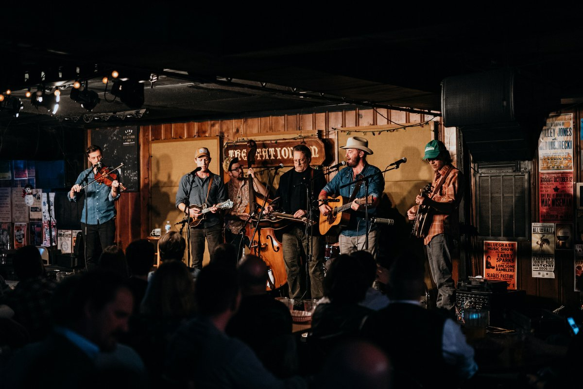 Town Mountain Performs at Station Inn