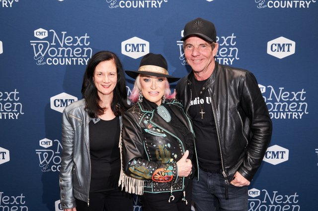 3. Leslie Fram, Tanya Tucker, Dennis Quaid_CMT NWOC Kickoff Party, 1.12.20 copy.jpg