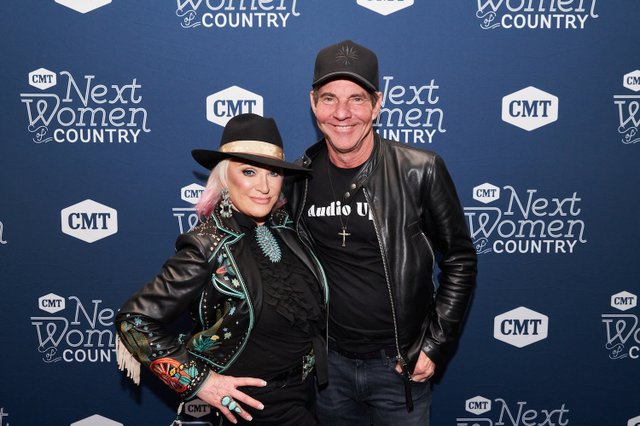 5. Tanya Tucker, Dennis Quaid_CMT NWOC Kickoff Party, 1.12.20.jpg