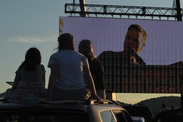 3 Michael W. Smith performs at his drive-in concert in Franklin, TN on May 30, 2020.JPG