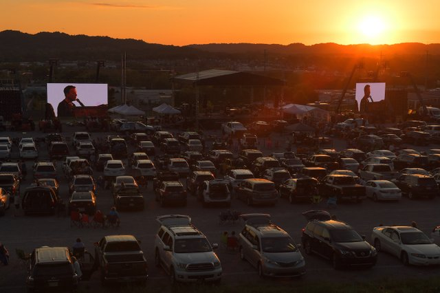 Michael W. Smith performs at his drive-in concert in Franklin, TN on May 30, 2020.JPG
