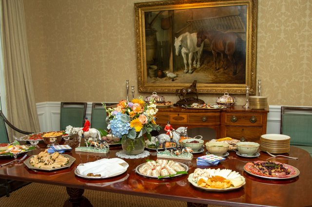 Fred and Virginia Lazenby's Buffet Table.jpg