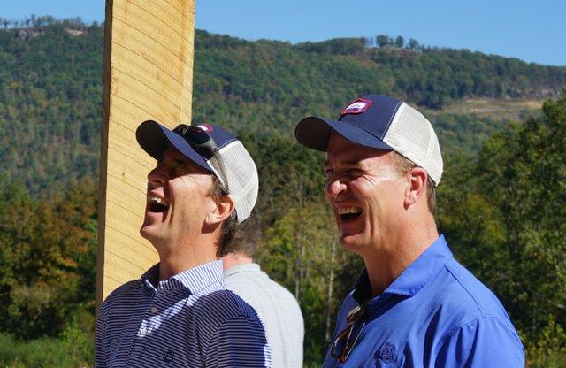 Peyton and Eli Manning at Sweetens Cove.JPG