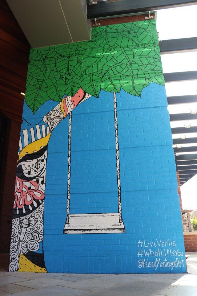Kelsey Montague Unveils New Mural at Vertis Green Hills - Nashville  Lifestyles