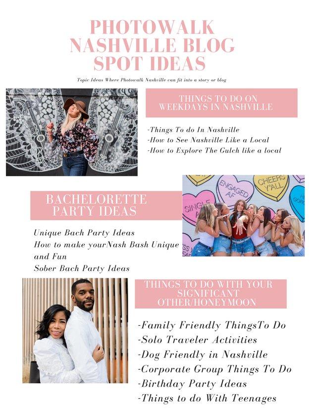 Photowalk Nashville Blog Spot Ideas