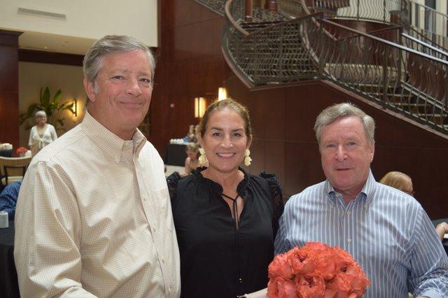 Board President James W. Perkins III, Mary Perkins, Louis Belote.JPG